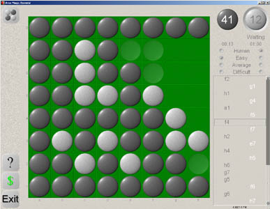 Beautiful 3D graphics combined with ease of use in this classic game of Reversi
